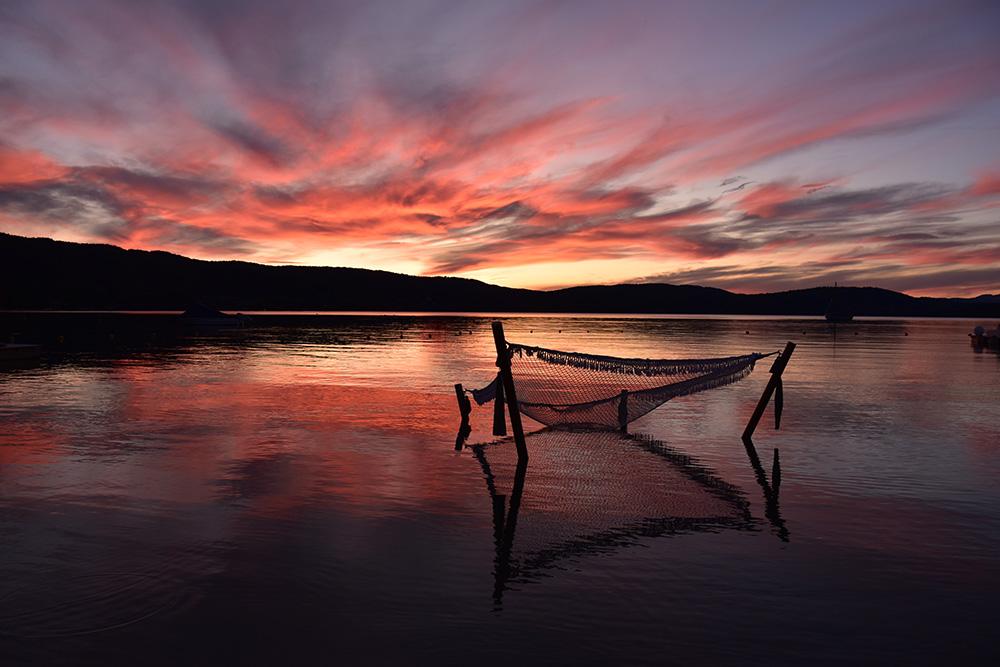 Ekies All Senses Resort Hängematte und Sonnenuntergang