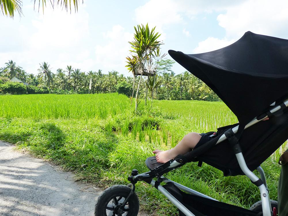 Reisen mit Kleinkind mit dem Kinderwagen in Bali
