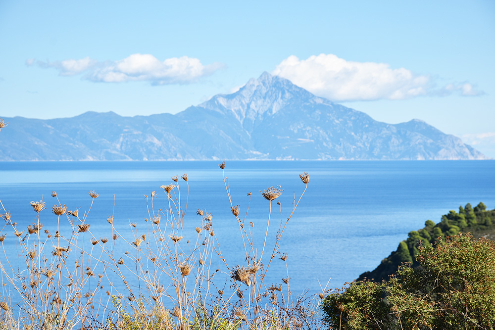 Reisetipps Chalkidiki Aussicht auf den Berg Athos