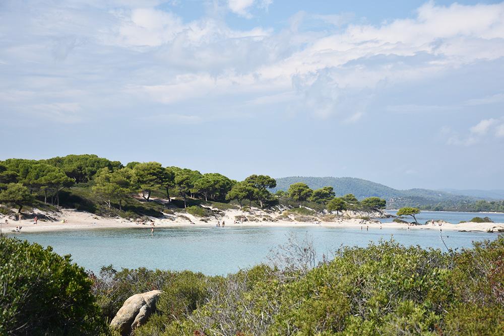 Reisetipps Chalkidiki Blick auf den Karidi Beach