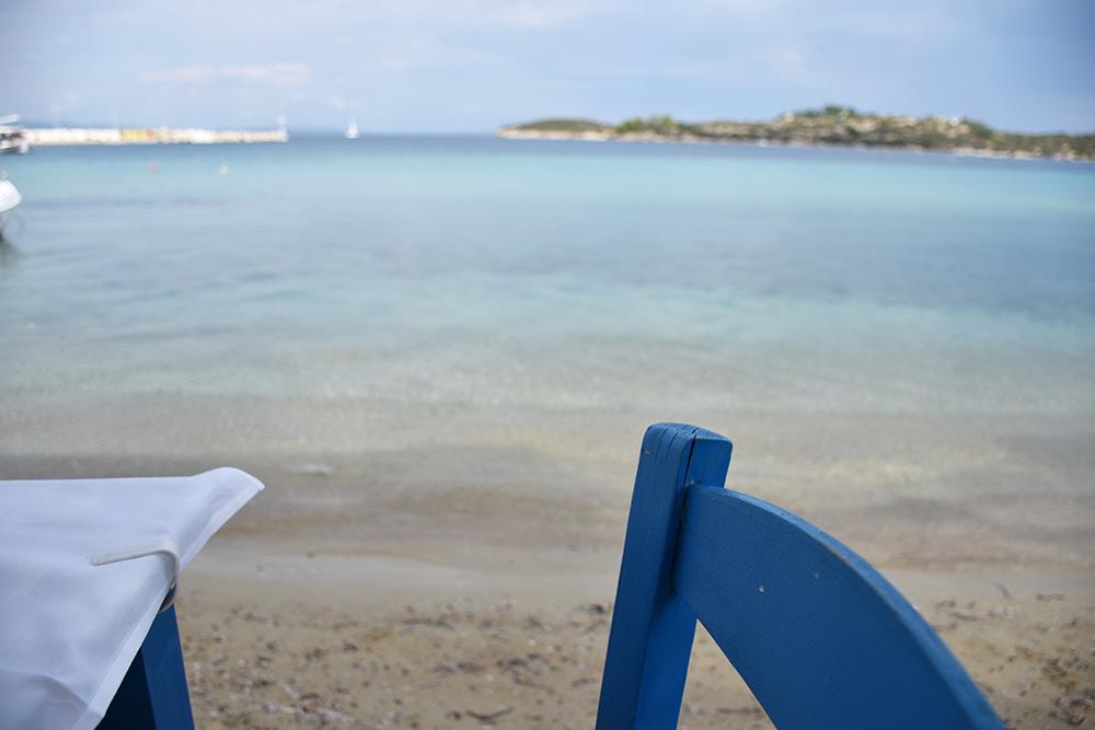 Reisetipps Chalkidiki Essen mit Blick aufs Meer