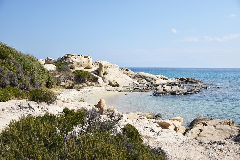 Reisetipps Chalkidiki Karidi Beach einsamer Strand
