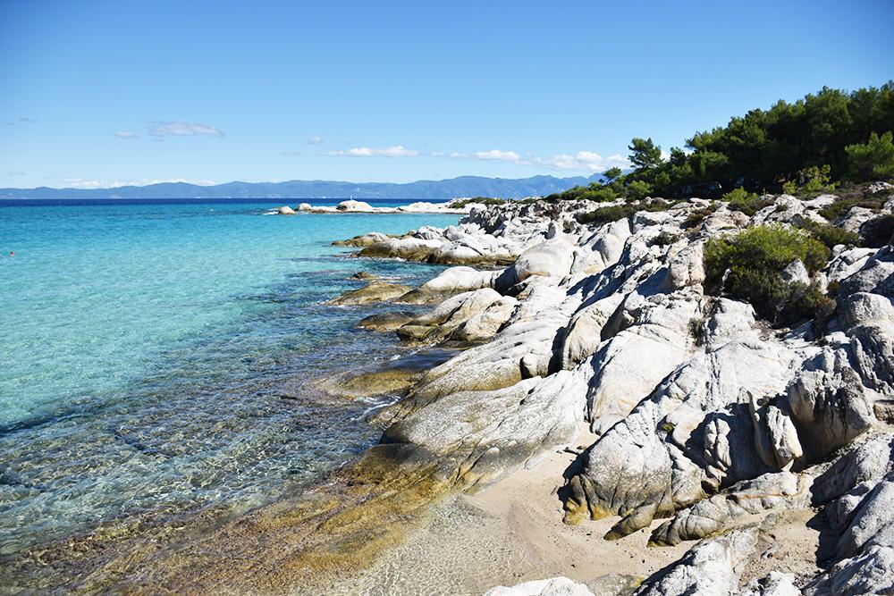 Reisetipps Chalkidiki kristallklares Wasser beim Orange Beach