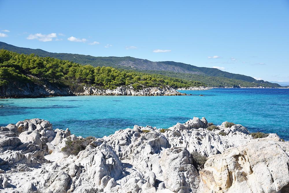 Reisetipps Chalkidiki wunderbare Aussichten beim Orange Beach