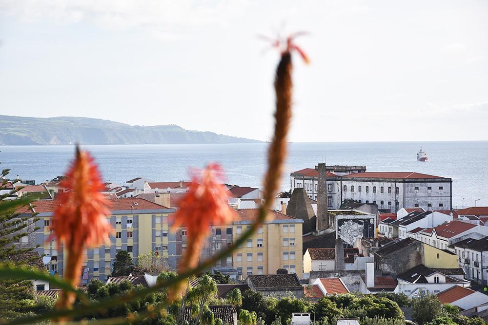 São Miguel Azoren Reisetipps Blick auf Ponta Delgada von der Ermida da Mae de Deus