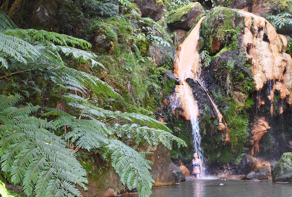São Miguel Azoren Reisetipps Wasserfall Caldeira Velha