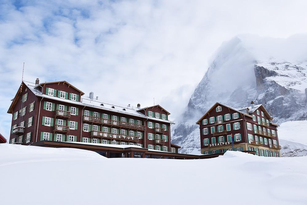 Reisetipps Wengen unterwegs mit Jack Daniel's Kleine Scheidegg Hotel des Alpes