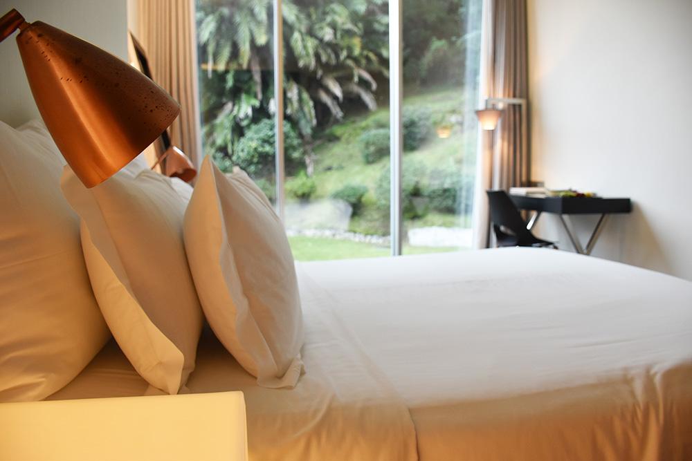 Hoteltipp Furnas Boutique Hotel São Miguel Azoren Zimmer mit Blick in den Garten
