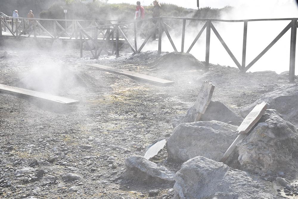 Reisetipps Furnas São Miguel Azoren Caldeiras am Ufer des Furnassees