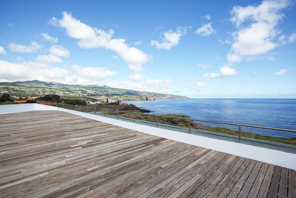 Appartement auf den Azoren Santa Barbara Lodge Ausblick Dachterrasse