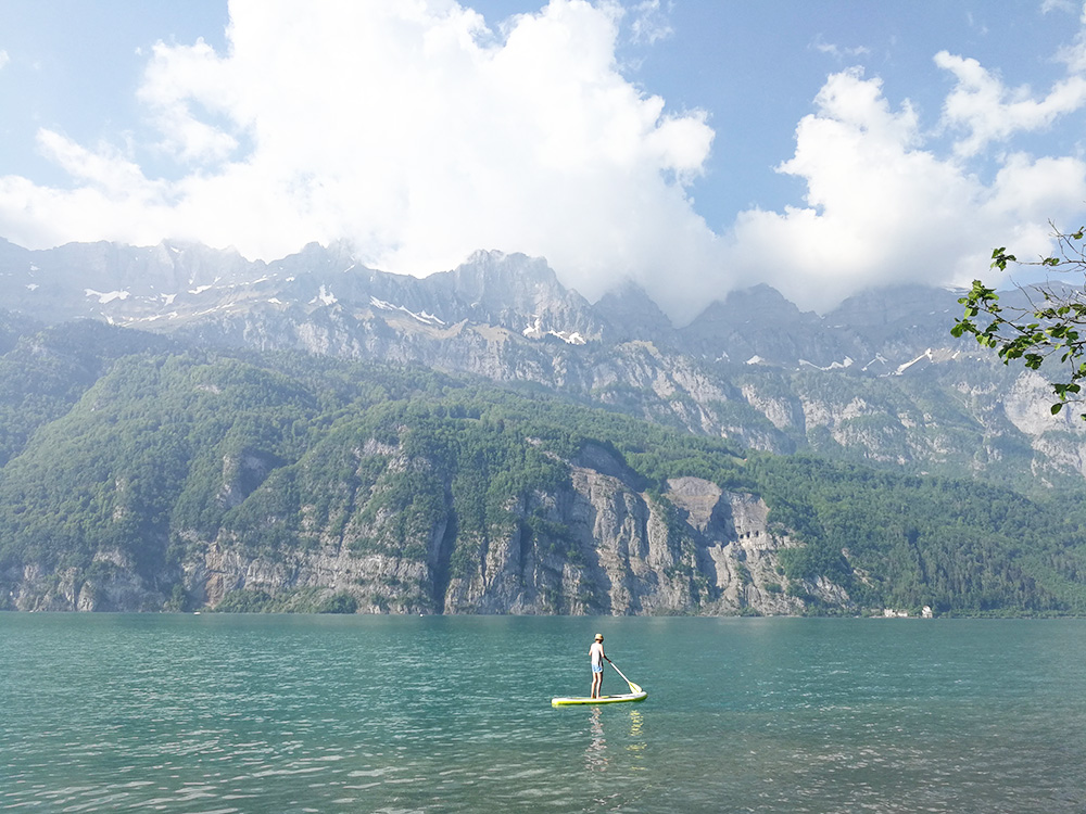 Badestellen am Walensee SUP in Mols
