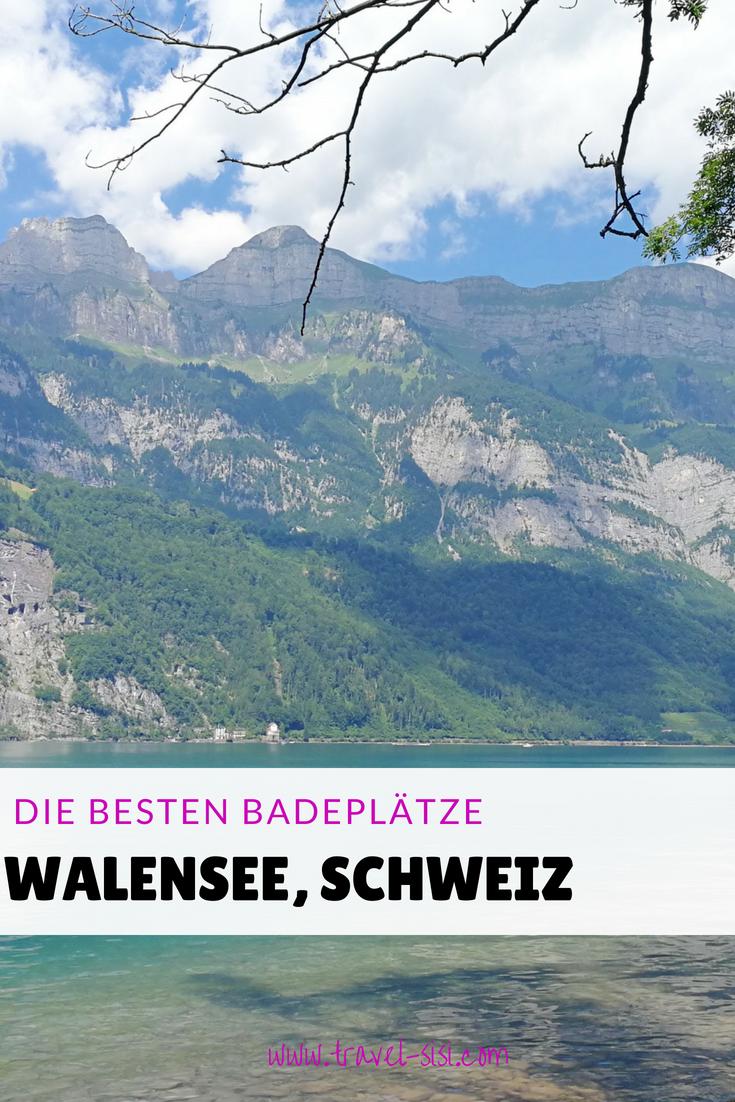 Die besten Badestellen am Walensee in der Schweiz
