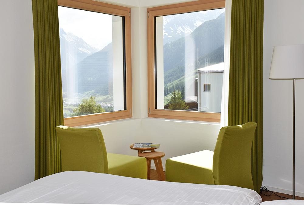 Guarda Lodge Hoteltipp für Guarda Blick aus dem Zimmer