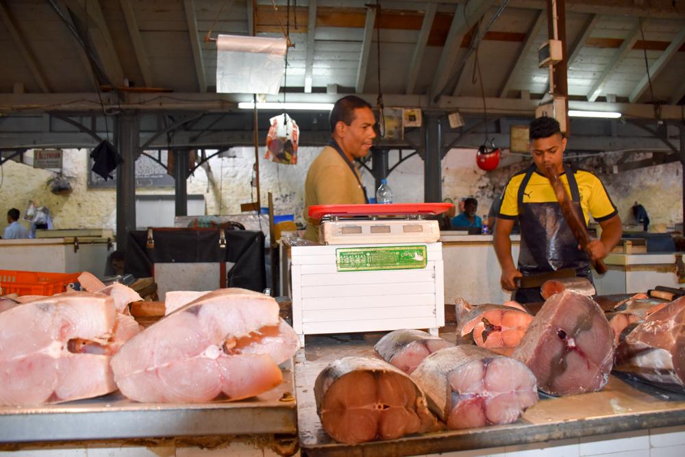 Sehenswürdigkeiten Mauritius meine 10 Highlights Fischhalle Zentralmarkt Port Louis