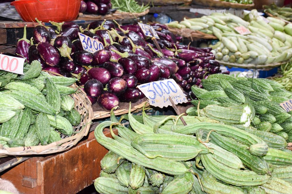 Sehenswürdigkeiten Mauritius meine 10 Highlights Gemüsen auf dem Zentralmarkt in Port Louis