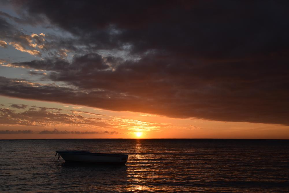 Sehenswürdigkeiten Mauritius meine 10 Highlights Sonnenuntergang Le Morne Peninsula
