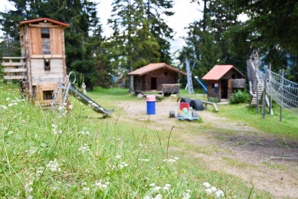 Familienwochenende in der Lenzerheide Sternennacht-Spielplatz Acla Grischuna