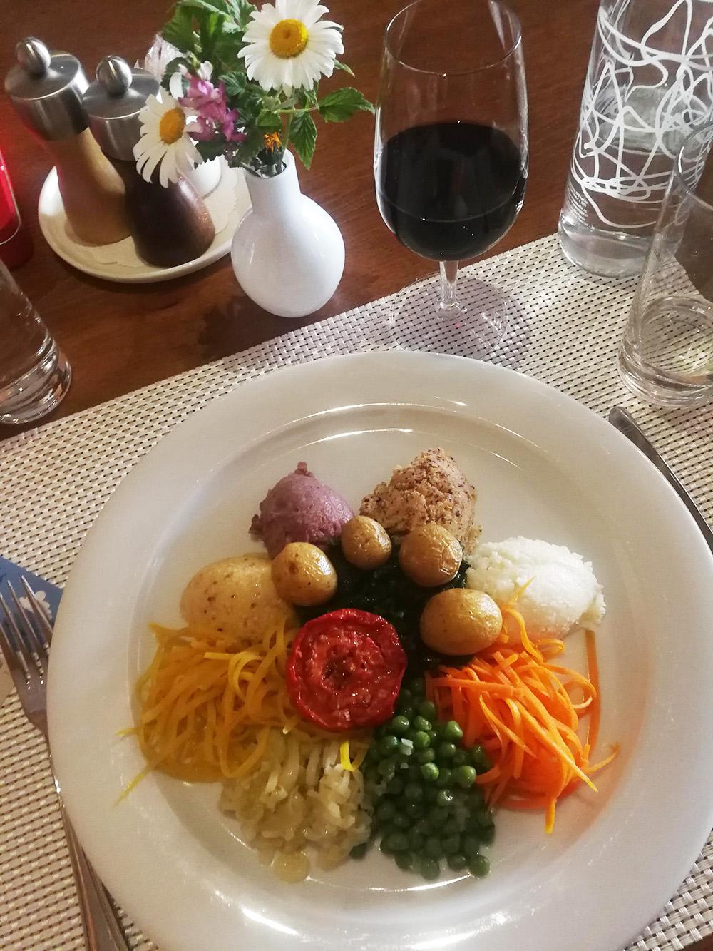 Guarda und der Schellen-Ursli-Weg Abendessen in der Ustaria Crusch Alba