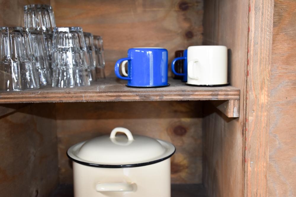 Glamping Gower Peninsula Wiesenbett Hillside Farm voll ausgestattete Küche