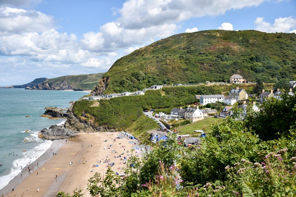 Wales Highlights Blick auf Tresaith