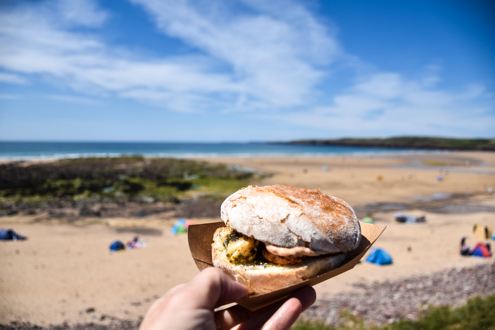 Wales Highlights Lobster Roll in Freshwater West