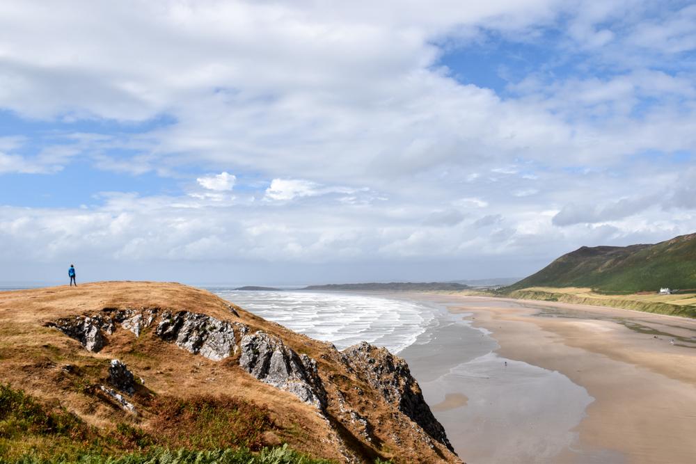 Wales Highlights Travel Sisi blickt auf den Rhossili Beach