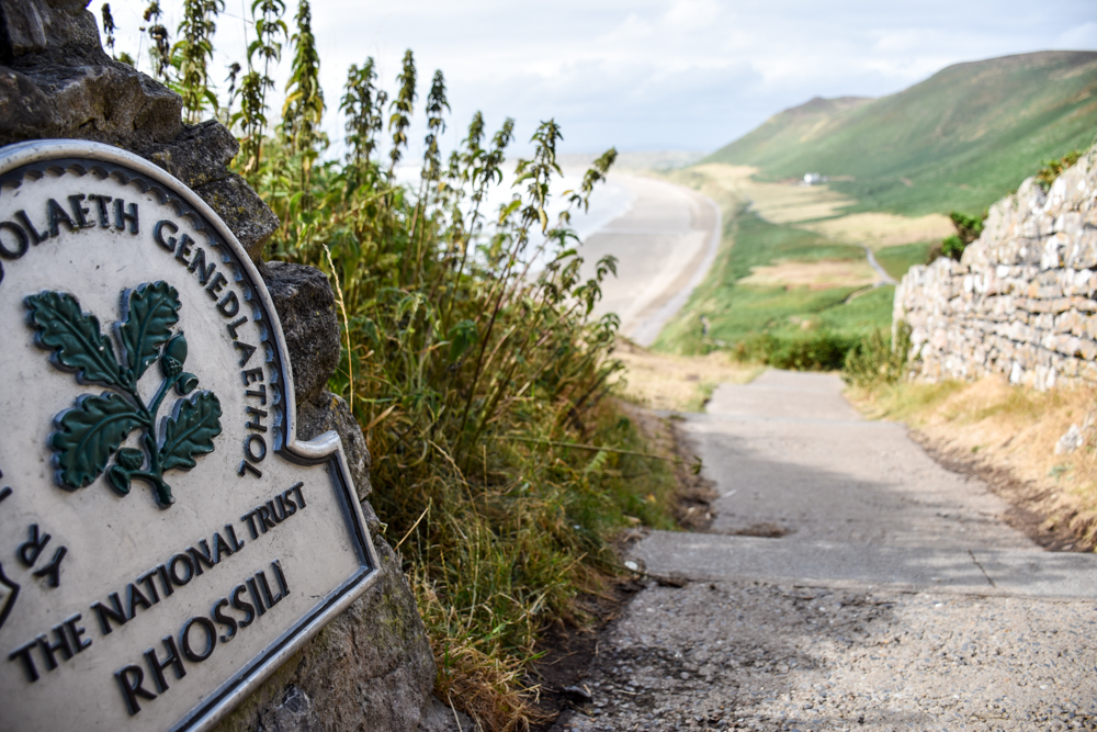Wales Highlights Weg zum Rhossili Beach