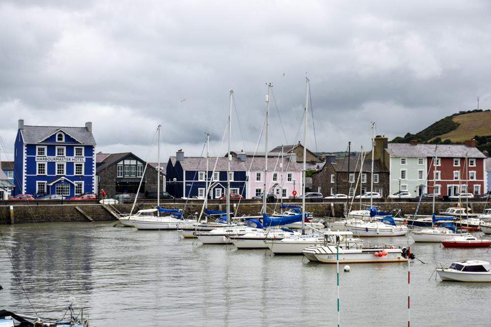 Wales Highlights wunderbare Häuser in Aberaeron