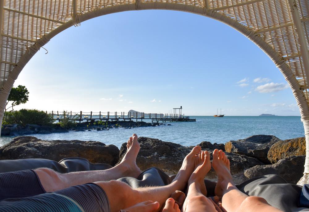 Hoteltipp Mauritius Hotel Zilwa Attitude Aussicht aus dem Korb