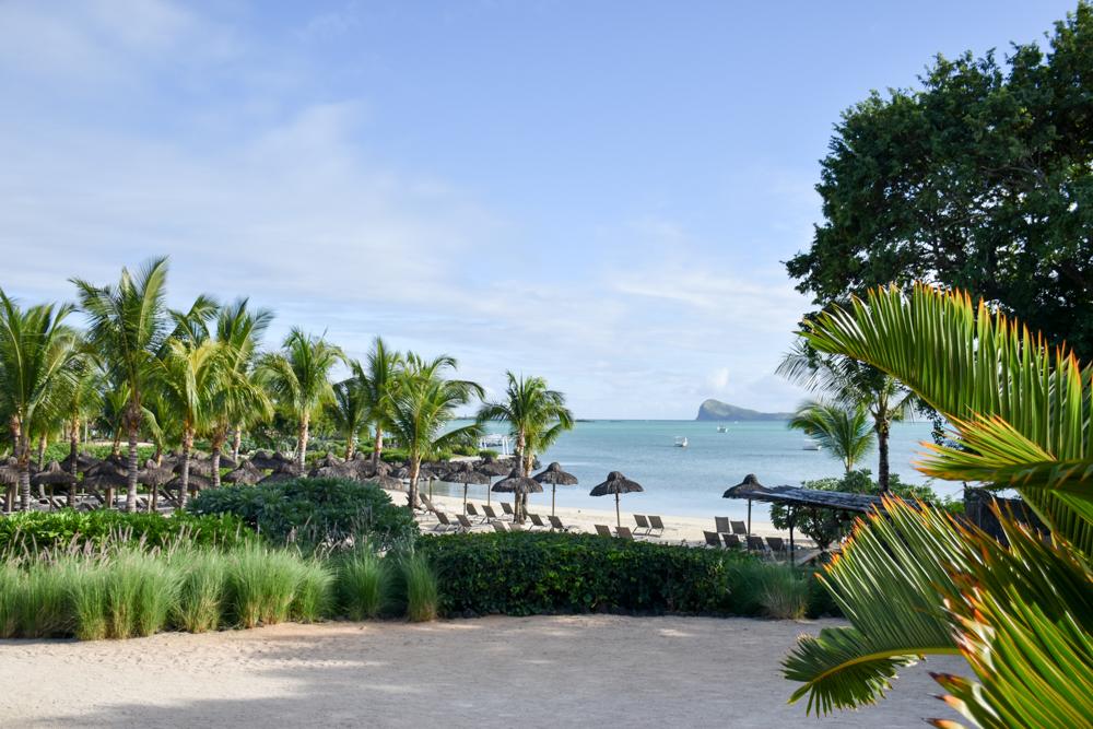 Hoteltipp Mauritius Hotel Zilwa Attitude Blick zum Strand