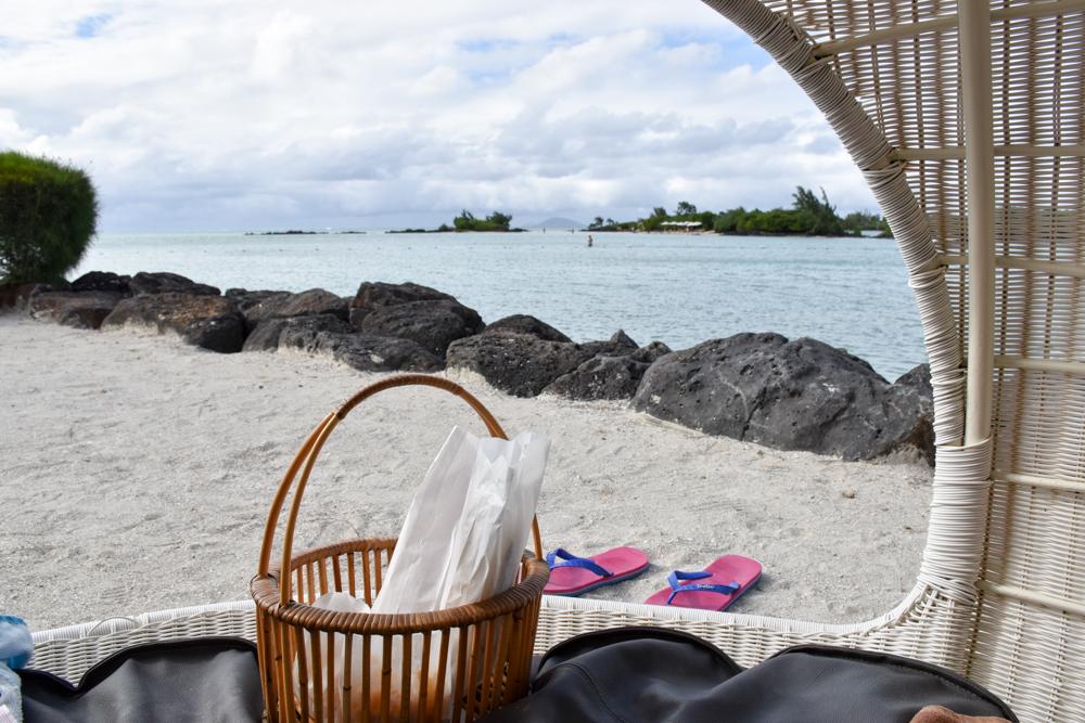 Hoteltipp Mauritius Hotel Zilwa Attitude Picknick mit Blick aufs Meer