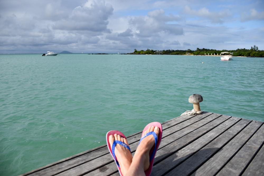 Hoteltipp Mauritius Hotel Zilwa Attitude chillen auf dem Steg