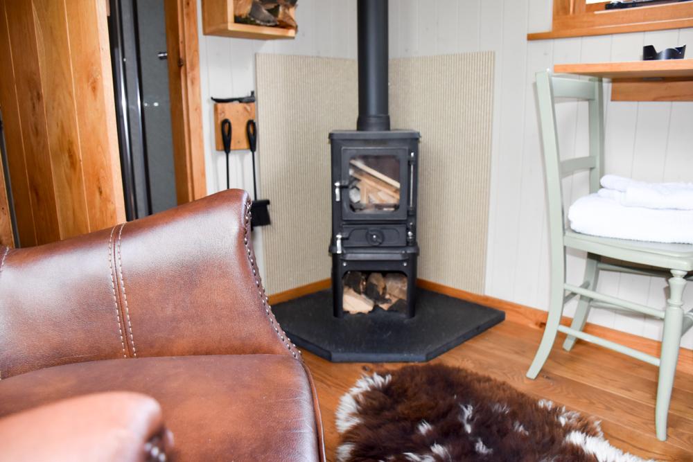 Glamping Welshpool Powys Wales Wohnzimmer Shepherds Hut