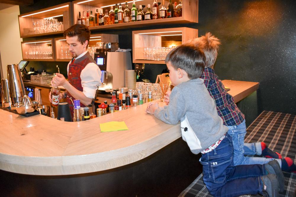 Hoteltipp Malbun Liechtenstein Gorfion das Familienhotel Drink für die Kinder