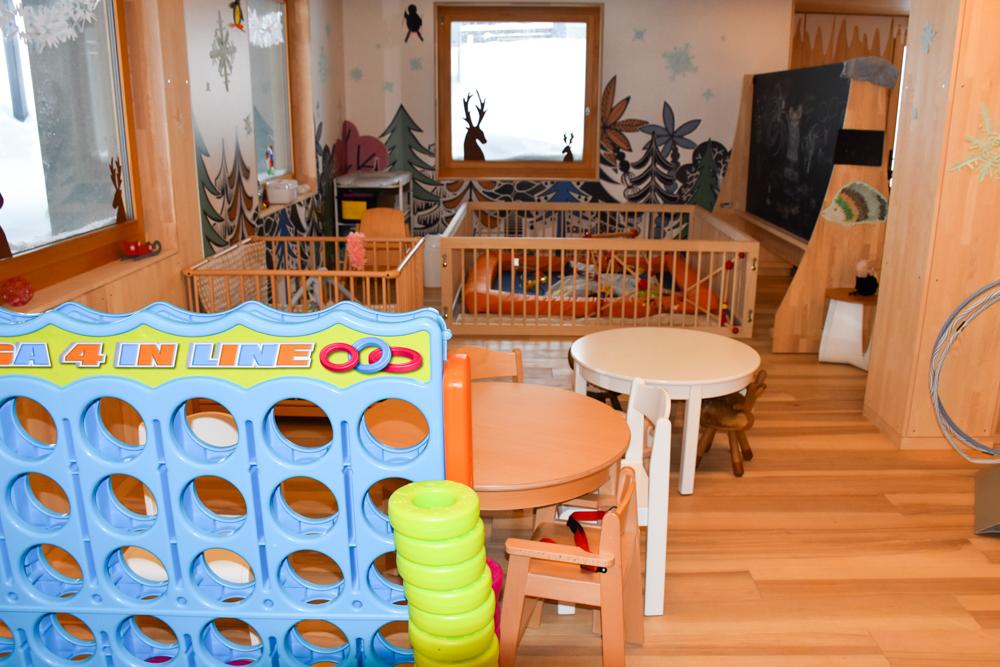 Hoteltipp Malbun Liechtenstein Gorfion das Familienhotel Kleinkindereck in der Kinderwelt