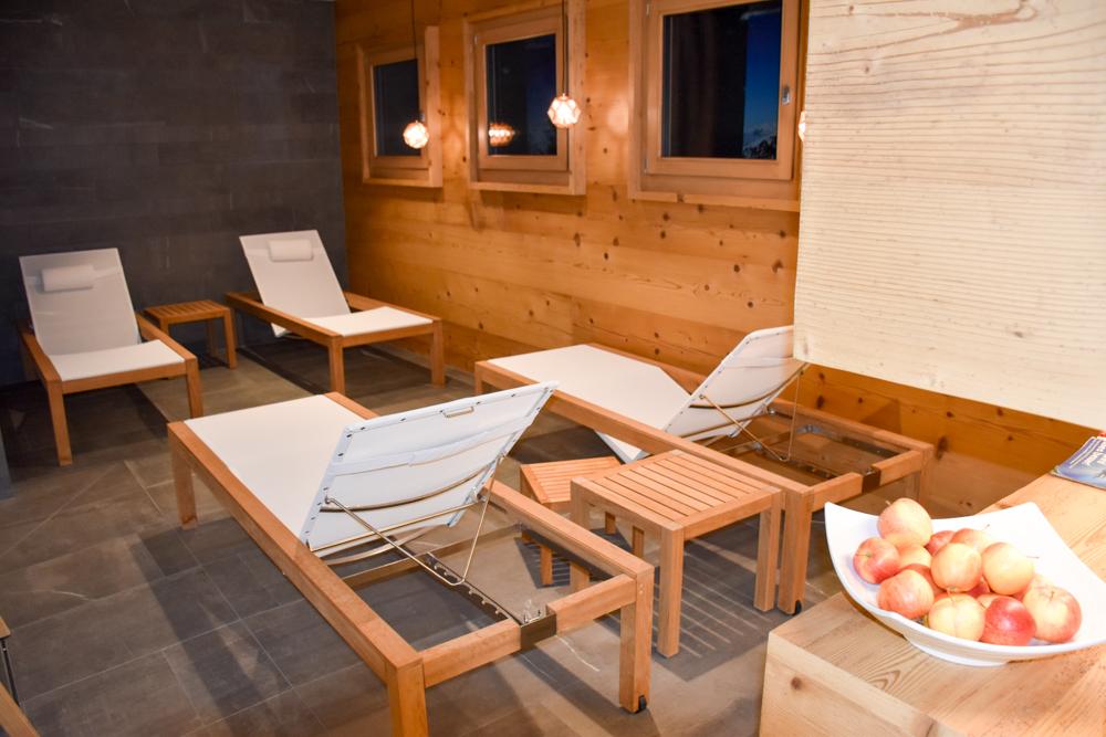 Hoteltipp Malbun Liechtenstein Gorfion das Familienhotel Ruheraum im Spa
