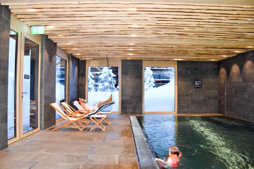 Hoteltipp Malbun Liechtenstein Gorfion das Familienhotel Schwimmbad