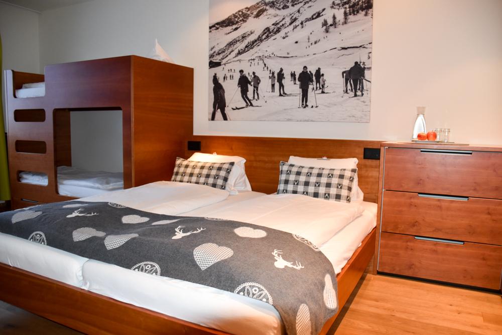 Hoteltipp Malbun Liechtenstein Gorfion das Familienhotel Zimmer