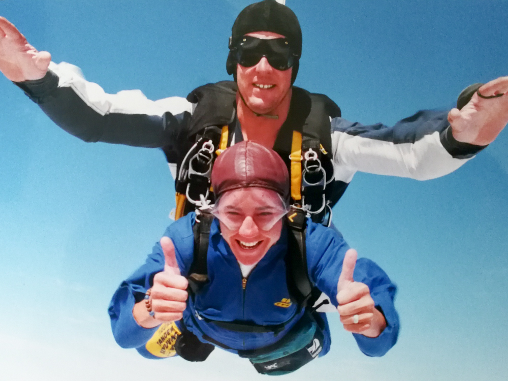 Übertourismus und Flugscham meine Lösung Travel Sisi beim Skydiven