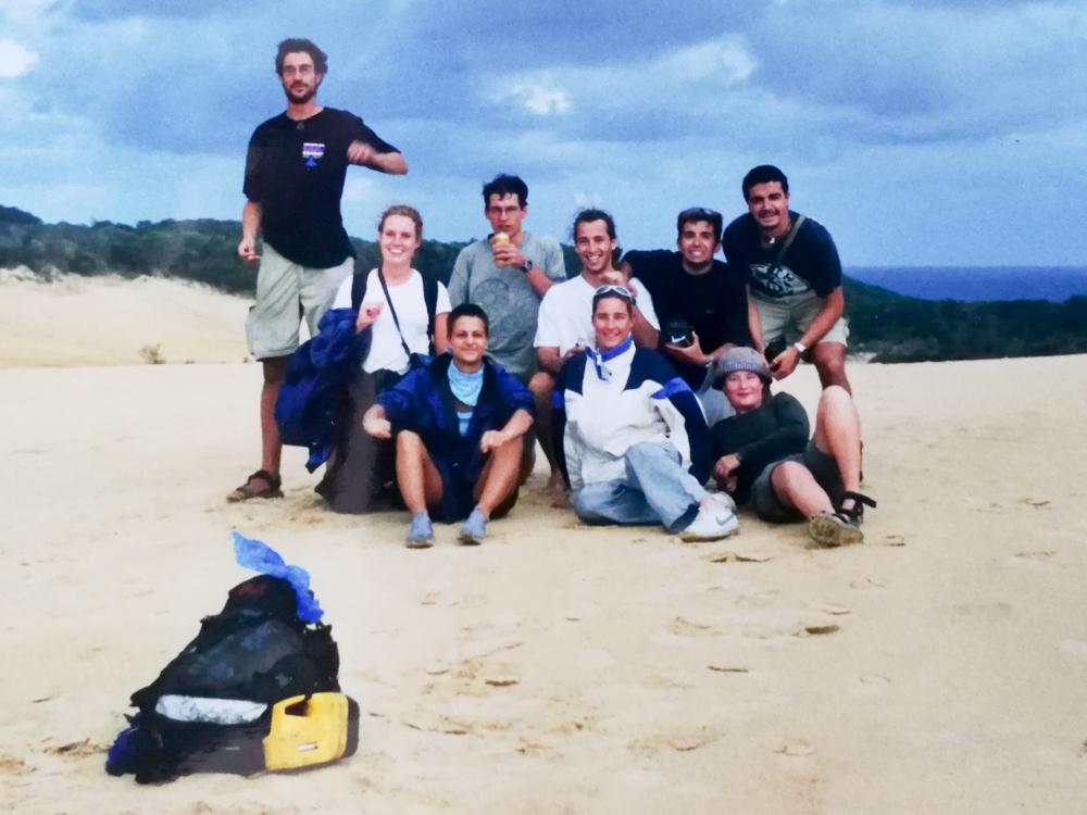 Overtourismus und Flugscham meine Lösung Travel Sisi mit Reisekollegen auf Fraser Island