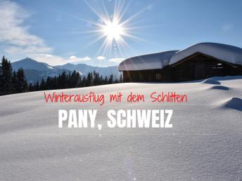 Schlittenweg Pany Prättigau Schweiz