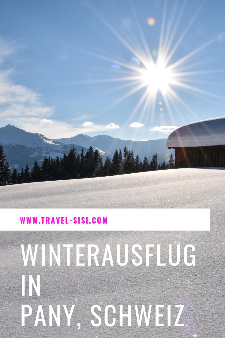 Winterausflug Pany Graubünden Schweiz