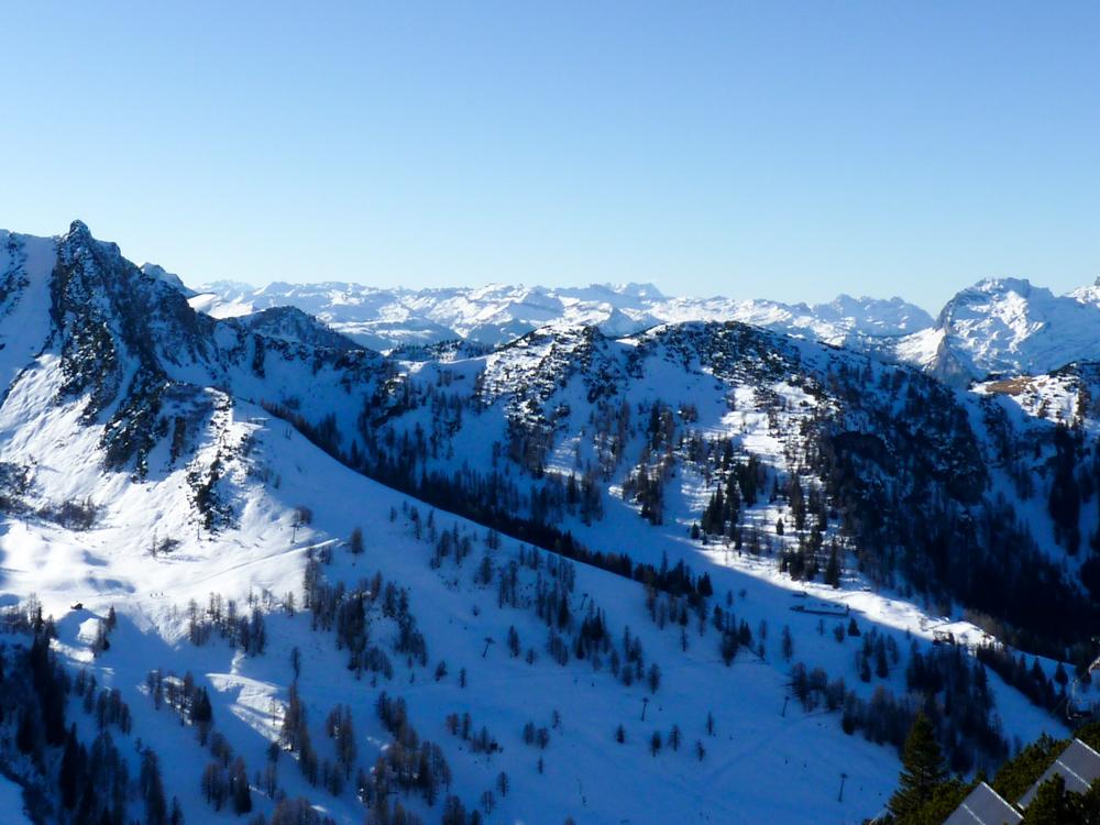 Winterurlaub Malbun Liechtenstein Aussicht vom Sareis