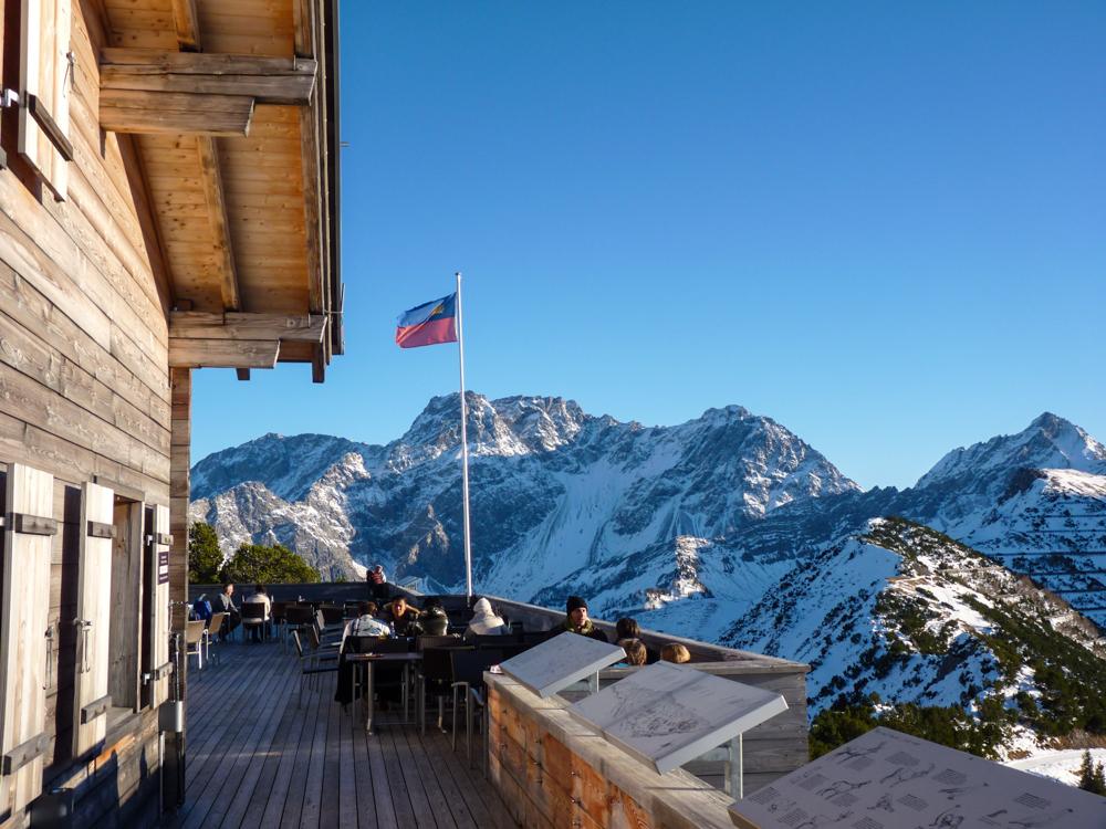 Winterurlaub Malbun Liechtenstein Berggasthaus Malbun