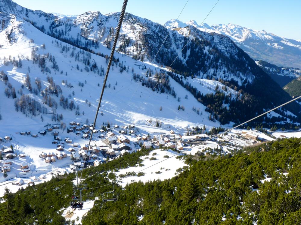 Winterurlaub Malbun Liechtenstein Fahrt aufs Sareis