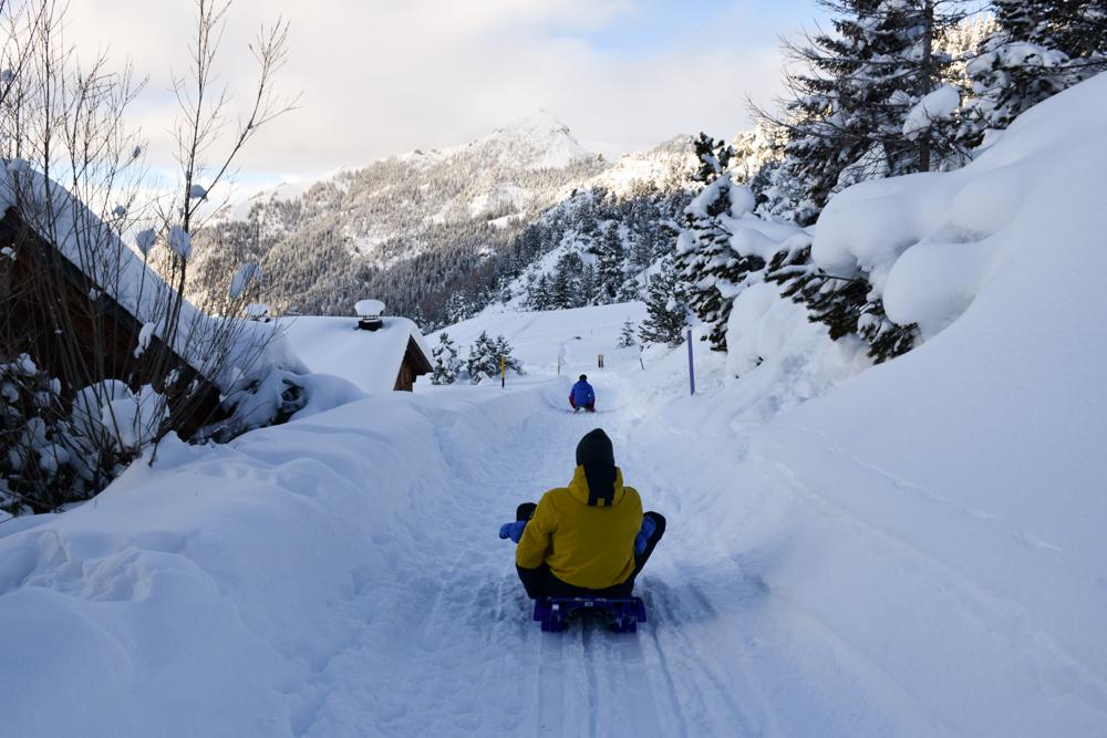 Winterurlaub Malbun Liechtenstein Schlitteln
