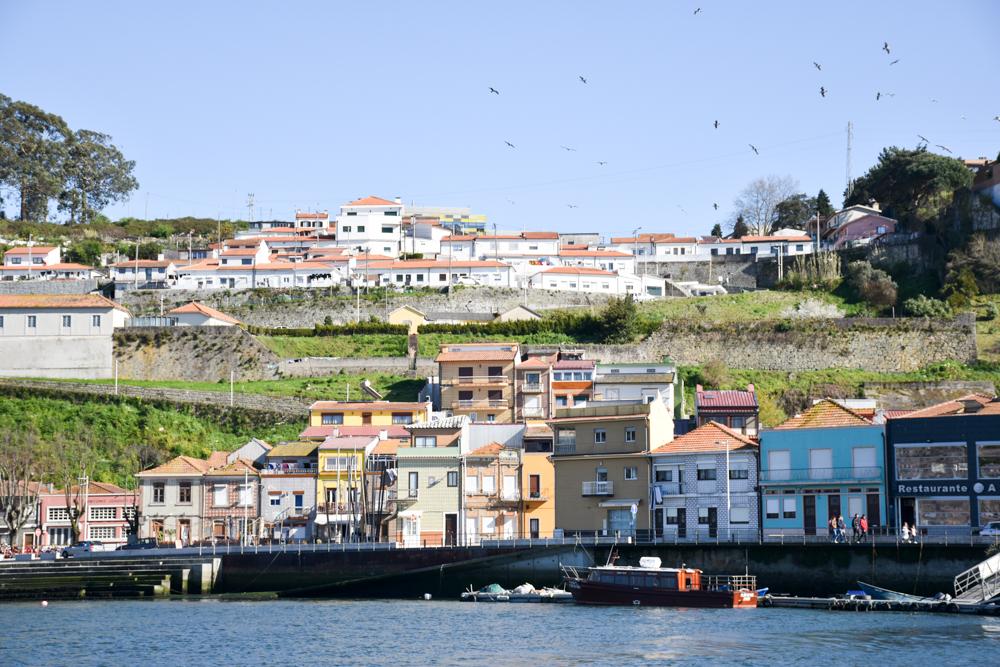 Porto Fahrradtour ans Meer Blick auf Sao Pedro da Afurada