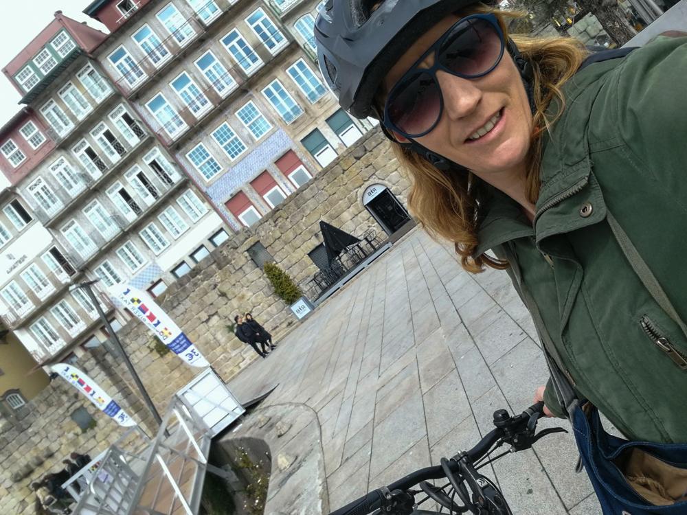 Porto Fahrradtour ans Meer Travel Sisi mietet ein Fahrrad