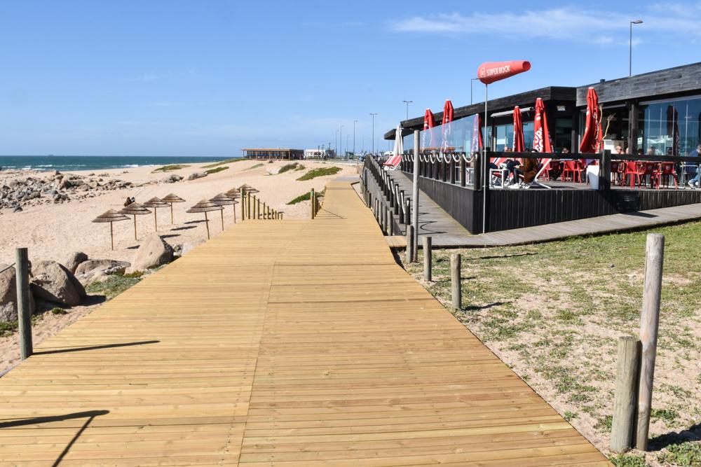 Porto Fahrradtour ans Meer coole Restaurants direkt am Atlantik