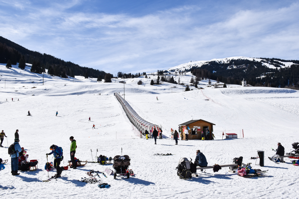 Winterferien Savognin Bivio Albula mit der Familie Kinderskiparadies La Nars